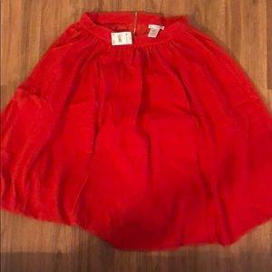 Red tulle Esley skirt